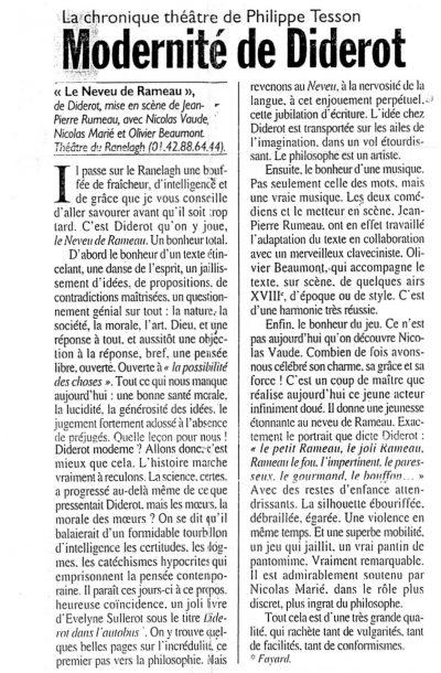 Article de presse 'Le Figaro'